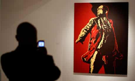 Brett Murray's painting of Jacob Zuma at an exhibition in Johannesburg in May 2012