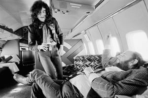 Led Zeppelin: Jimmy Page talking to Peter Grant