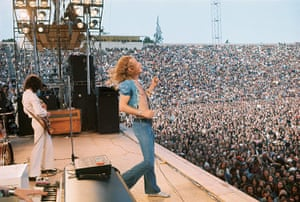 Led Zeppelin: The band perform for a massive crowd in Kezar stadium