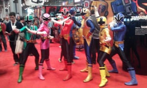 Power Rangers at New York Comic Con 2012