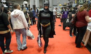 Fans in costume arrive for the opening session of the 2012  New York Comic Con at the Jacob Javits Center.
