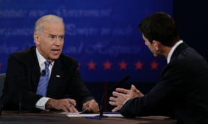 Joe Biden and Paul Ryan debate at Centre College in Danville, Kentucky.