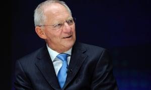 German Finance Minister Wolfgang Schauble.