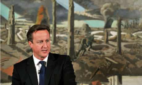 David Cameron, first world war centenary