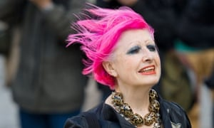 Fashion designer Zandra Rhodes arrives at St Paul's Cathedral in London to attend a memorial service for the late British hairdresser Vidal Sassoon. Vidal Sasson died aged 84 years in Los Angeles on May this year.