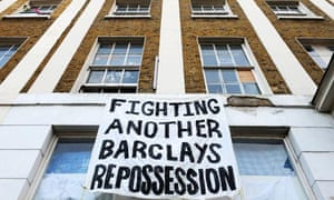 Squatters in building in solicitors firm repossessed by Barclays bank