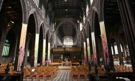 The interior of Manchester cathedral