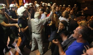 Protest against Terrence McNally's Corpus Christi in Athens