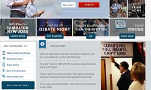 Romney campaign site