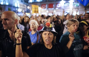 Global Noise Protests: People make noise as they take part in a