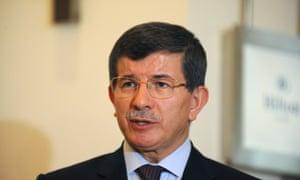 Turkish Foreign Minister Ahmet Davutoglu.