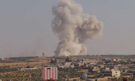 Syrian fighter near Idlib