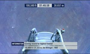 Felix Baumgartner reaches 100,000 feet