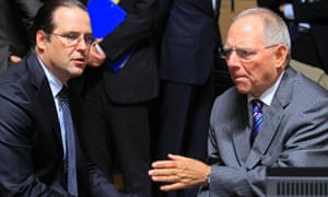 Sweden's Finance Minister Anders Borg (left) and German counterpart Wolfgang Schaeuble (right)