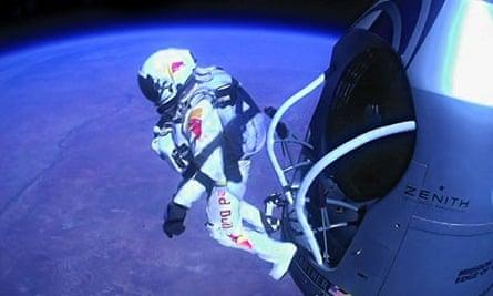 Felix Baumgartner skydive
