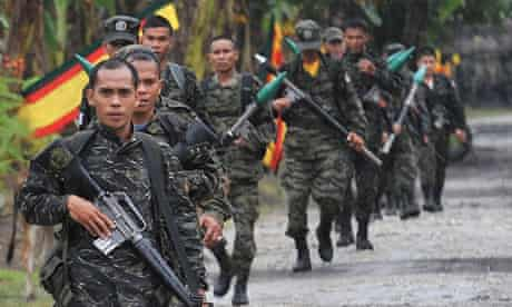 Moro Islamic Liberation Front rebels in southern Philippines