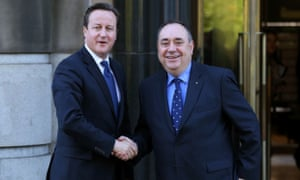David Cameron and Alex Salmond at St Andrews House