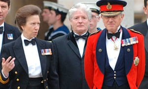 Lieutenant General Sir John Kiszely (right), with Princess Ann at a Heroes Dinner