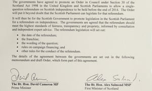 An extract from the referendum agreement