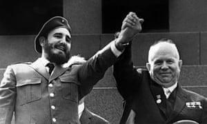 Fidal Castro with Nikita Khrushchev in Moscow, 1963