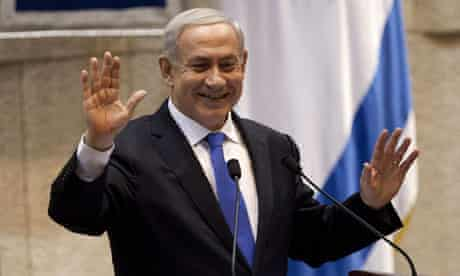 Binyamin Netanyahu during the debate that led to Israel's parliament dissolving for elections