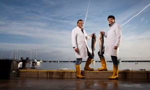 The Seahorse's Mitch Tonks (left) and Mat Prowse photographed at Brixham fish market, Devon