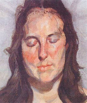 Rotterdam paintings: 'Woman with Eyes Closed' by Lucian Freud 2002