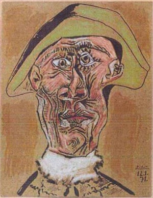 Rotterdam paintings: 'Harlequin Head' by Pablo Picasso, 1971