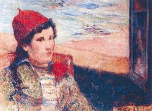 Rotterdam paintings: 'Girl in Front of Open Window' by Paul Gauguin, 1898