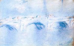 Rotterdam paintings: 'Waterloo Bridge, London' by Claude Monet