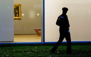 Rotterdam paintings: The spot on the wall where one of the stolen paintings in Kunsthal museum