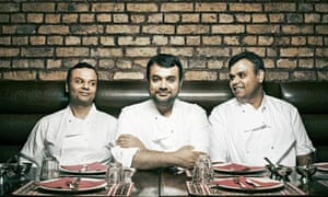 Tayyabs' owners, from left, Saleem, Aleem and Wasim Tayyab.