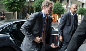 IMF mission chief Poul Thomsen arrives for a meeting with the labour minister in Athens today. Photograph: AFP/Getty Images/Louisa Gouliamaki