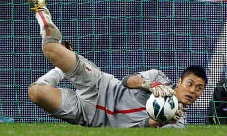 Japan goalkeeper Eiii Kawashima