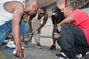 Big Picture: Dallas: Group of young men playing dice