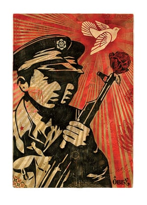 Shepard Fairey images: Chinese soldiers