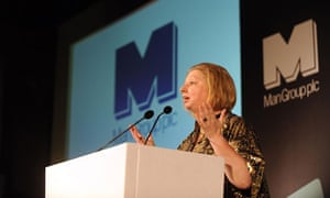 Mantel accepts the Man Booker Prize for Wolf Hall, 2009.