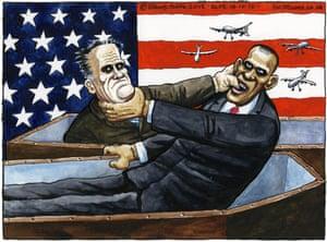 18.10.12: Steve Bell on the second US presidential debate