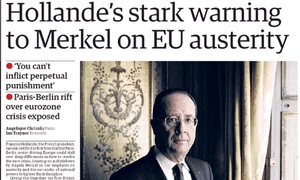 Guardian Front Page, October 2012