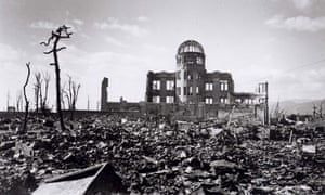 The aftermath of the Hiroshima bomb