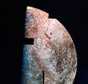 Voyager: Europa, one of the moons of Jupiter, 1979.