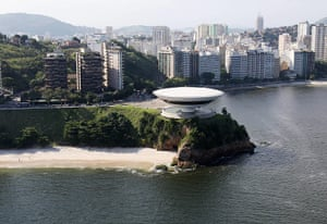 Oscar Niemeyer: The Museum of Contemporary Art in Niteroi, near Rio de Janeiro