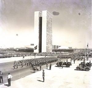 Oscar Niemeyer: Military Parade celebrates Brasilia's inauguration