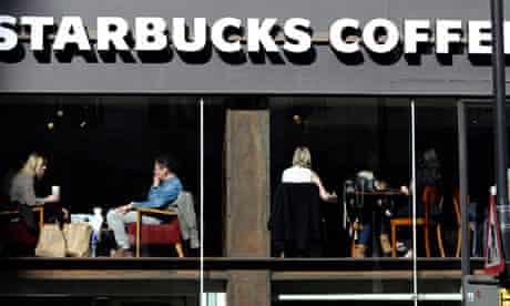 Starbucks coffee shop in London
