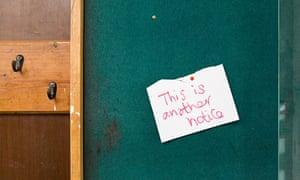Notice on noticeboard