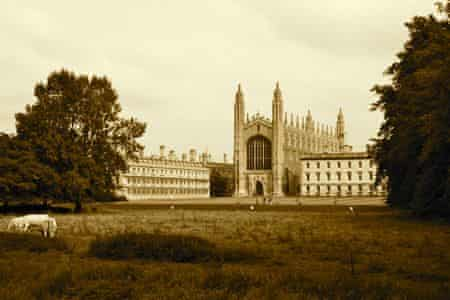 Kings College Cambridge, viewed from 'the backs'