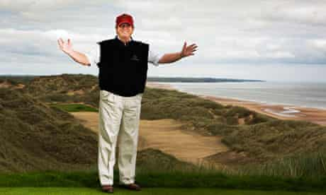 Donald Trump on his new golf course