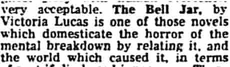 Bell Jar 1963 review
