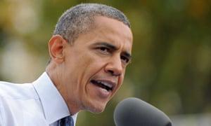 Barack Obama at rally in Virginia