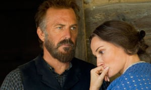 Kevin Costner and Sarah Parish in The Hatfields and the McCoys